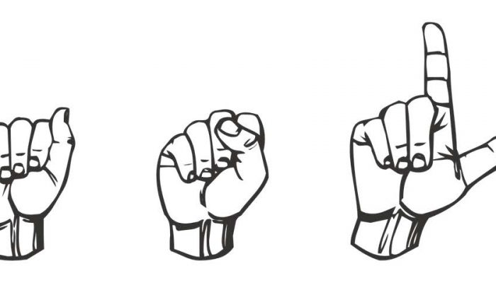 They are taught deaf language known as sign language from childhood