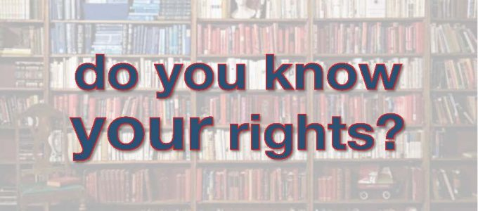 do you know your rights banner