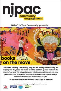 NJPAC Presents Books on the Move at NPL's Branch Brook Branch @ The Newark Public Library, Branch Brook Branch | Newark | New Jersey | United States