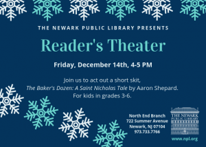 Reader's Theater at North End Branch @ Newark Public Library North End Branch | Newark | New Jersey | United States