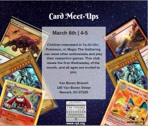 Card Meet-Ups @ Van Buren Branch Library | Newark | New Jersey | United States