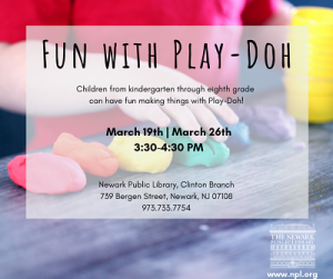 Fun with Play-Doh @ The Newark Public Library, Clinton Branch   Newark   New Jersey   United States