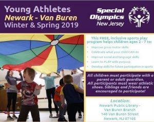Young Athletes Newark -Van Buren Winter & Spring 2019 @ Van Buren Branch Library   Newark   New Jersey   United States
