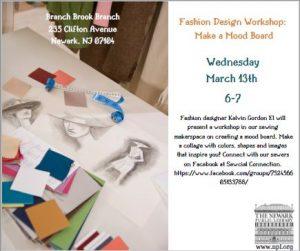 Fashion Design Workshop Make A Mood Board Newark Public Library