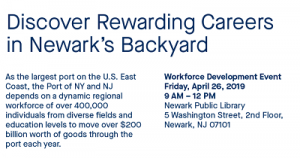 Port Authority of New York & New Jersey Workforce Development Event @ The Newark Public Library, 2nd Floor | Newark | New Jersey | United States