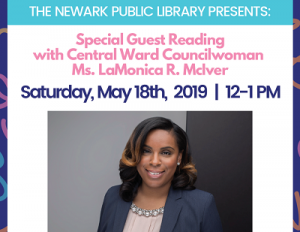 Special Guest Reading with Central Ward Councilwoman LaMonica McIver @ The Newark Public Library, 1st Floor Children's Room | Newark | New Jersey | United States