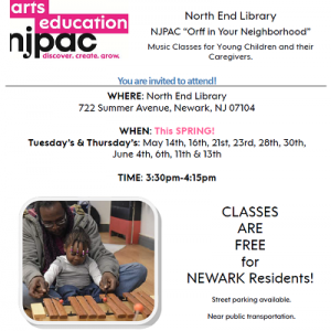 """NJPAC """"Orff in Your Neighborhood"""" - North End Branch @ The Newark Public Library, North End Branch 