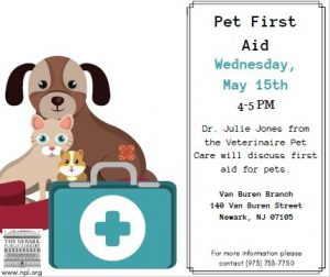 Pet First Aid @ Van Buren Branch Library | Newark | New Jersey | United States