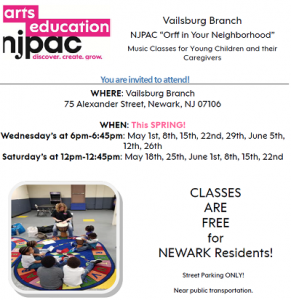 "NJPAC ""Orff in Your Neighborhood"" - Vailsburg Branch @ The Newark Public Library, Vailsburg Branch 