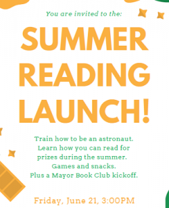 Summer Reading Launch - Van Buren Branch @ The Newark Public Library, Van Buren Branch | Newark | New Jersey | United States