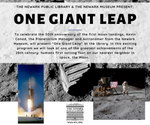 One Giant Leap: North End Branch @ The Newark Public Library, North End Branch | Newark | New Jersey | United States