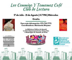 Lee Conmigo Y Tomemos Café Club de Lectura @ The Newark Public Library, La Sala Hispanoamericana | Newark | New Jersey | United States