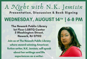 A Night with N.K. Jemisin @ The Newark Public Library, JBAAR | Newark | New Jersey | United States