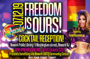 Newark LGBTQ Center Cocktail Party @ The Newark Public Library, 1st Floor LGBTQ Center | Newark | New Jersey | United States