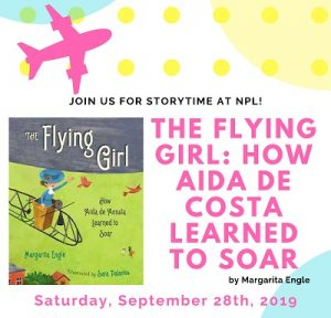 Storytime - The Flying Girl: How Aida de Costa Learned to Soar @ The Newark Public Library, Branch Brook Branch