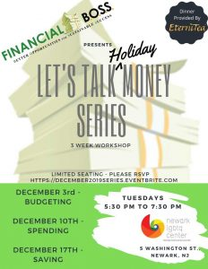 Let's Talk Money Series @ Newark Public Library, LGBTQ Center