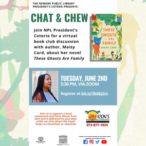 Chat & Chew Book Club with Author Maisy Card & NPL President's Coterie