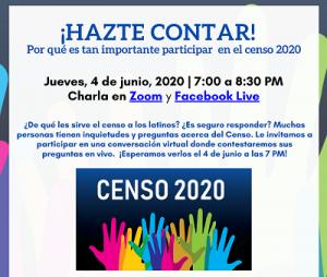 ¡Hazte contar!  Por qué es tan importante participar en el censo 2020