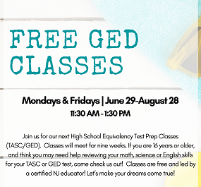 Summer Session GED Classes