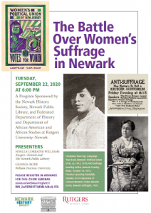 The Battle over Women's Suffrage in Newark