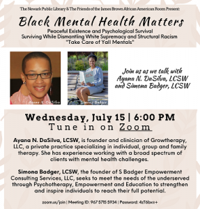 Black Mental Health Matters: Peaceful Existence and Psychological Survival