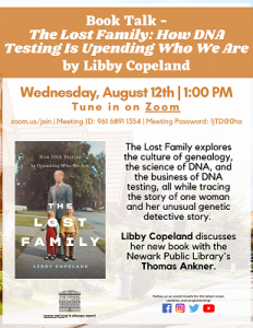 Book Talk - The Lost Family: How DNA Testing Is Upending Who We Are by Libby Copeland
