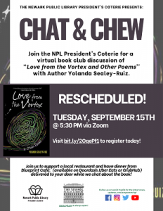 Chat & Chew: Book Club with NPL President's Coterie {RESCHEDULED}