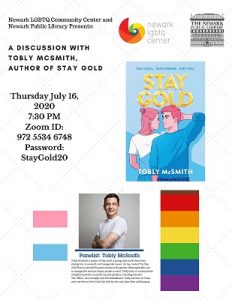 Author Talk: A Discussion with Tobly McSmith, Author of Stay Gold