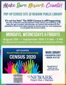 Make Sure Newark Counts! Pop-up Census Site @ NPL