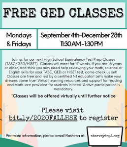 Free GED Classes {Fall}