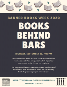 Banned Books Week 2020 - Books Behind Bars