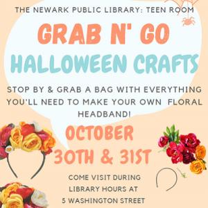 The Newark Public Library Teen Room: Grab n' Go Halloween Craft