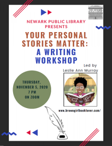 Your Personal Stories Matter: A Writing Workshop
