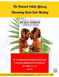 Newark Public Library Book Club
