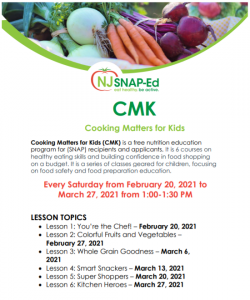 Cooking Matters for Kids {Branch Brook}