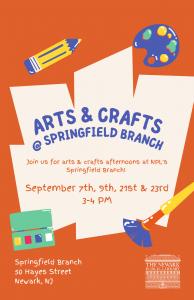 Arts & Crafts @ NPL Springfield Branch