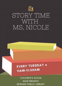 Storytime with Ms. Nicole @ NPL Main Children's Room