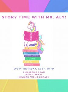 Storytime with Mx. Aly @ NPL Main Children's Room